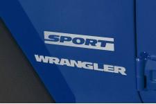 "Oryginalna Naklejka, ""Sport"", Srebrna : Jeep Wrangler JK"