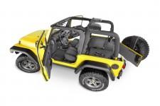 Zestaw wykładzin podłogowych BedTred Premium : 03-06 Jeep Wrangler TJ, Pełna Konsola Centralna