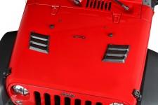Wyczynowe wloty powietrza, Black, 07-16 Jeep Wrangler JK