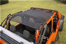 Dach Siatkowy serii Eclipse Sun Shade, pełna długość, czarny : 18-19 Jeep Wrangler JL, 2 drzwiowy
