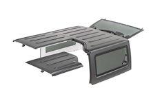 Dach twardy, 3 częściowy, panele Freedom, czarny teksturowany : 09-18 Jeep Wrangler JK 2 drzwiowy