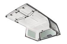 Dach twardy, 3 częściowy, panele Freedom, primerowany do malowania : 18-19 Jeep Wrangler JL Unlimited 4 drzwiowy