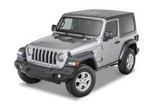 Dach twardy, 3 częściowy, panele Freedom, czarny teksturowany : 18-19 Jeep Wrangler JL 2 drzwiowy
