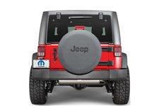 Pokrowiec na Koło Zapasowe, Black Denim, Czarne Jeep Logo