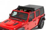 Sunrider do dachu twardego Hardtop, Czarny Twill : 18-19 Jeep Wrangler JL & 2020 Gladiator JT