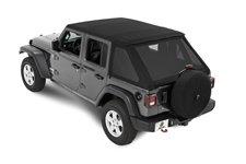 All-New Trektop Soft Top, Black Diamond : 18-19 Jeep Wrangler JL 4-Door Unlimited
