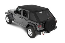 All-New Trektop Soft Top, Black Twill : 18-19 Jeep Wrangler JL 4-Door Unlimited