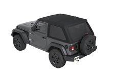 All-New Trektop Soft Top, Black Twill : 18-19 Jeep Wrangler JL 2-Door