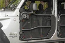 Siatka do drzwi rurowych przednich Fortis, para, czarna: 18-19 Jeep Wrangler JL/JLU