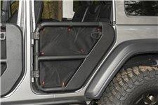 Siatka do drzwi rurowych tylnich Fortis, para, czarna: 18-19 Jeep Wrangler JLU