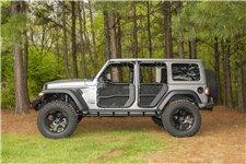 Siatki do drzwi rurowych Fortis, zestaw na 4 drzwi, czarne : 18-19 Jeep Wrangler JLU