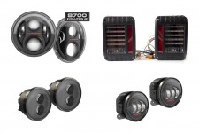 Full Set of LED Lights from J.W. SPEAKER, black : 07-18 Jeep Wrangler JK/JKU