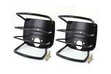 Osłony lamp tylnych, czarne : 76-06 Jeep CJ Wrangler YJ/TJ