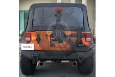 Mocowanie koła zapasowego XHD - II generacji, Blokada i uchylne drzwi : 07-17 Jeep Wrangler JK