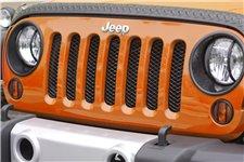 Siatka ochronna grilla, Czarny : 07-17 Jeep Wrangler JK