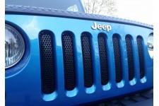 Siatka ochronna grilla, perforowana, czarna : 07-17 Jeep Wrangler JK