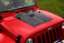 Pokrywa wlotu powietrza, Czarny : 07-17 Jeep Wrangler JK