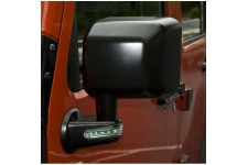 Lusterko zewnętrzne z kierunkowskazami LED, czarne, lewe : 07-17 Jeep Wrangler JK