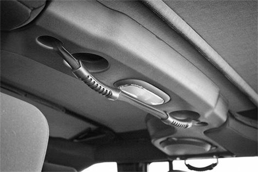 Podwójny uchwyt, tylny, czarny, 07-16 Jeep Wrangler Unlimited JK