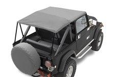 Dach miękki mocowany do orurowania, Szary : 76-91 Jeep CJ/Wrangler YJ