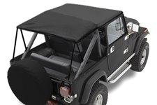 Dach miękki mocowany do orurowania, Black Denim : 76-91 Jeep CJ7/Wrangler YJ