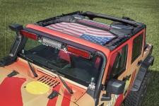 Dach siatkowy typu Eclipse, Amerykańska Flaga : 07-17 Jeep Wrangler JK