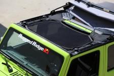 Dach siatkowy typu Eclipse, Czarny : 07-17 Jeep Wrangler JK