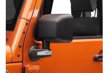 Lusterka zewnętrzne z kierunkowskazami LED, czarne, lewe + prawe, 07-16 Jeep Wrangler JK