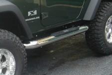 """4"""" progi rurowe boczne, Stal nierdzewna, 07-15 Jeep Wrangler JK"""