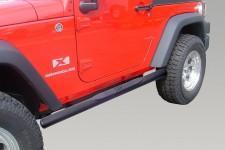"""Edytuj: 4 1/4"""" progi rurowe owalne boczne, Czarny, 07-15 Jeep Wrangler JK)"""