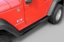 """3"""" progi rurowe boczne, Czarny, 07-15 Jeep 2-Drzwiowy Wrangler (JK)"""