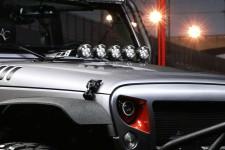"""3,5"""" okrągłe lampy LED z mocowaniem - zestaw 5 sztuk, 07-16 Jeep Wrangler JK"""