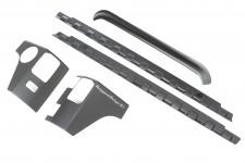 Body Armor Kit, 5-Piece, Smooth : 07-18 Jeep Wrangler JKU, 4 Door