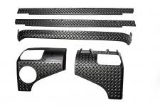 5-częściowy zestaw osłon karoserii, 07-16 Jeep Wrangler JK