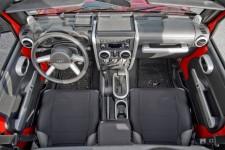 Zestaw nakładek, szczotkowane srebro, skrzynia automatyczna, szyby elektryczne 07-10 Jeep Wrangler JK