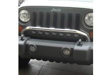 Poprzeczka na reflektory, Stal nierdzewna : 07-17 Jeep Wrangler JK