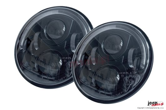 BLADE HL LED Headlight with half HALO ring, 7 inch, pair