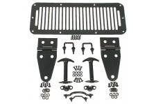 Zestaw akcesorii maski, Czarny : 76-95 Jeep CJ and Wrangler (YJ/TJ)