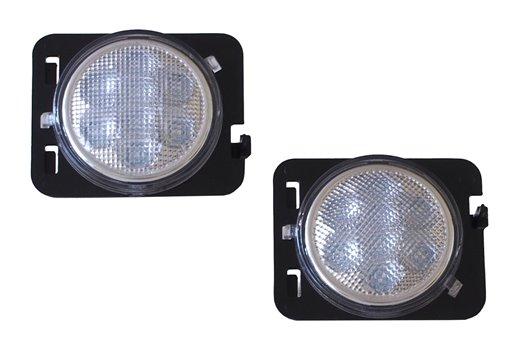 Kierunkowskazy LED na przedne błotniki, jasne, 07-16 Jeep Wrangler JK