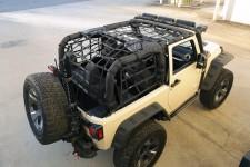 Siatka bagażowa, czarna, 07-16 Jeep Wrangler JK 2 drzwiowy