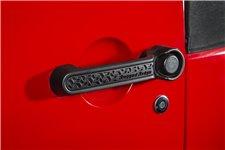 Wkładki do klamek, seria Elite, czarny wzór : 2 drzwiowy 07-17 Jeep Wrangler JK