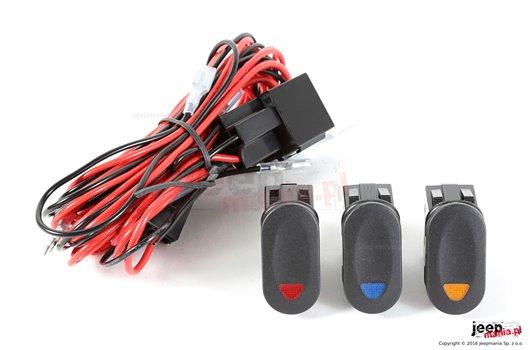 Wiązka elektryczna do oświetlenia, zawiera 3 przełączniki
