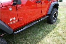 Stopnie wejściowe, okrągłe, 3 calowe, czarne : 07-17 Jeep Wrangler Unlimited JKU 4 drzwiowy
