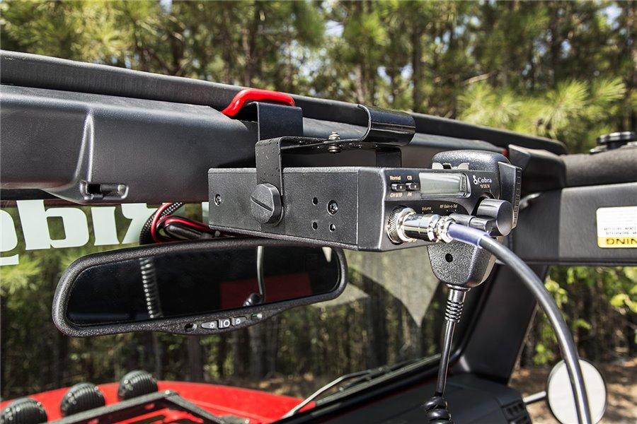 CB Radio Mount, above rear mirror, 03-06 Jeep Wrangler TJ