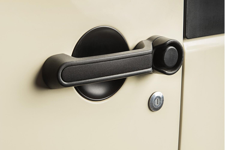 elite door handle inserts, black 07 18 jeep wrangler jku, 4 door
