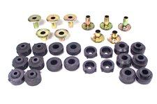 Zestaw montażowy karoserii, poduszki tulejki, bez śrub, 87-95 Jeep Wrangler YJ