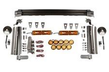 Zestaw FastRack Elite, poprzeczka, 2 panele LED, 9 lamp LED | 07-17 Jeep Wranlger JK