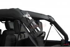 Uchwyt na gaśnicę, mocowany do orurowania, Czarny : 55-18 Jeep CJ & Wrangler YJ/TJ/JK/JL