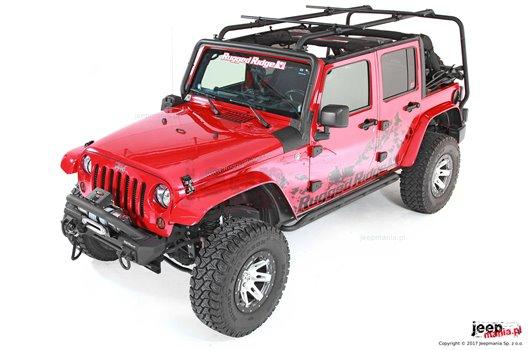 Zestaw - bagażnik dachowy Sherpa, uchwyty, poprzeczki | 07-17 Jeep Wrangler JK 4-drzwiowy