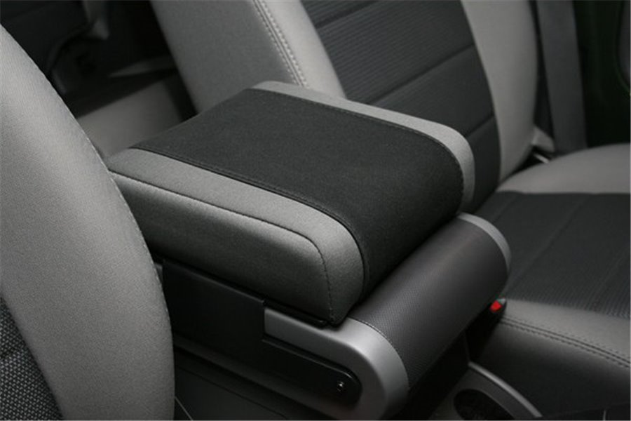 Neoprene Arm Rest Cover, Black with Gray, 07-10 Jeep Wrangler JK